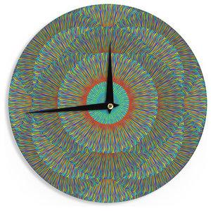 12-Inch Kess InHouse Robin Dickinson Love Nature Forest Wall Clock