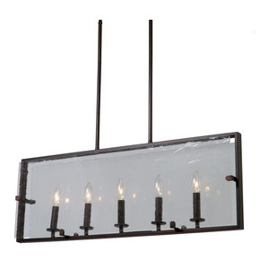 "Artcraft Lighting AC10304 Harbor Point 5 Light 32"" Wide Taper Candle Linear Cha"