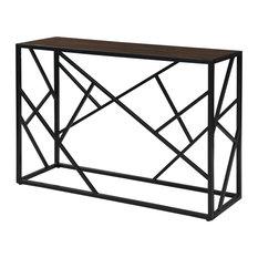 Cressida Console Table Elm/Black