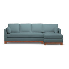 Avalon 2-Piece Sectional Sofa, Cloud Velvet, Chaise on Right