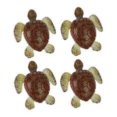 Brown Sea Turtle Drawer or Cabinet Door Pulls Set of 4