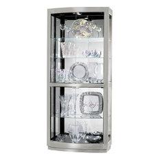 Howard Miller Bradington II Hardwood Curio Cabinet, Nickel Finish