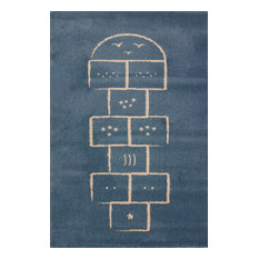 Hopscotch Children's Rug, Blue, 135x190 cm