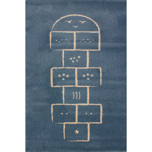 Hopscotch Children's Rug, Blue, 135x190 cm
