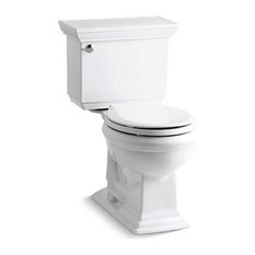 Kohler Memoirs Stately Comfort Height 2-Piece Round-Front 1.28 GPF Toilet, White
