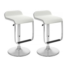 Atlin Designs 32-inch Bar Stool With Footrest In White (Set Of 2)