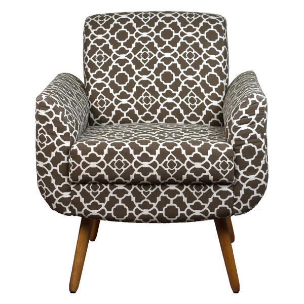 Turin Armchair, Print Brown