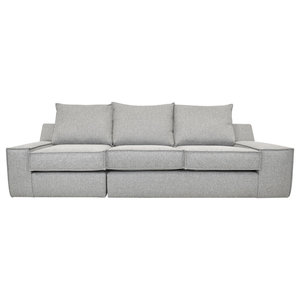 Oslo Modern 4-Seater Sofa, Light Grey