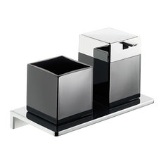 Ws Bath Collections Asio 1331 204 04 Soap Dispenser And Toothbrush Holder Bathroom Accessory