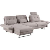 Divani Casa Payne Modern Gray Fabric Sectional Sofa