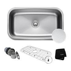 """Kraus USA, Inc. - KRAUS Outlast Microshield 31.5"""" Undermount Kitchen Sink 16G Stainless Steel - Kitchen Sinks"""