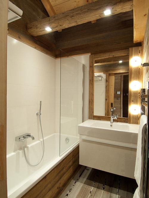 Petite salle de bain photos id es d co et am nagement de salles de bain de petit espace for Salle de bain montagne