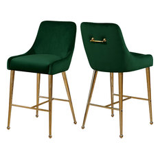Owen Velvet Stool, Set of 2, Green