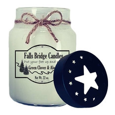 Green Clover & Aloe Scented Jar Candle, 26-Ounce, Star Lid