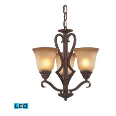 Elk Lighting 9326/3-LED Lawrenceville Traditional Chandelier in Mocha