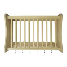 Cheshunt Wall Mounted Kitchen Rack With Hooks, Buttermilk
