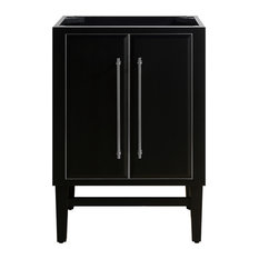 "Mason 24"" Vanity Only, Black With Brushed Silver Trim"