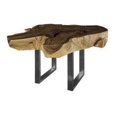 61-inchW Freeform Wood Dining Table Live Edge Solid Acacia Wood One Of A Kind