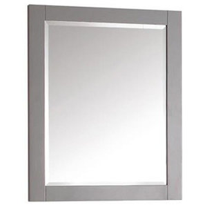 24 in. Rectangular Mirror in Chilled Gray Finish