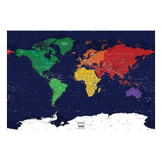 Most popular world map wall decal houzz for 2018 houzz world map wall decal dark oceans 62x42 wall decals gumiabroncs Images