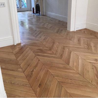 Contemporary  by Huggins Wood Floor Specialist