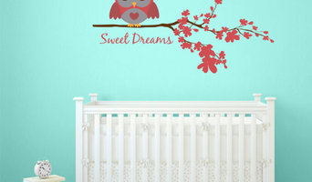 Red Sweet Dreams Owl Wall Decal