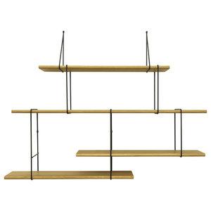 Link Balance Shelving System, Oak and Black