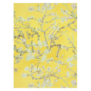 Non-Woven Floral Wallpaper For Accent Wall 17143 Van Gogh Wallpaper, Roll