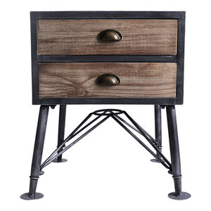Astounding Mathis Industrial 2 Drawer End Table Industrial Gray And Andrewgaddart Wooden Chair Designs For Living Room Andrewgaddartcom