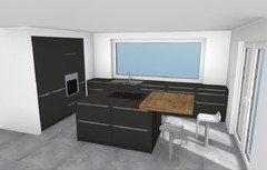 Welche Arbeitsplatte bei dunkler Küche?