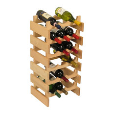 Wooden Mallet Dakota 6 Tier 18 Bottle Wine Rack in Natural