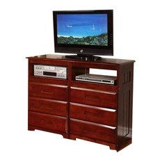 Custom Kids Furniture Merlot Media Dresser 1 Dressers