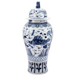 EuroLux Home - Temple Jar Fish Extra Large Blue WHITE - Product Details