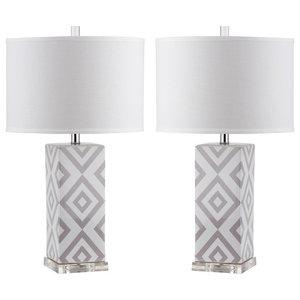 Safavieh Vivian Table Lamps, Set of 2, Grey