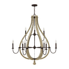 Fredrick Ramond Middlefield Chandelier, Iron Rust