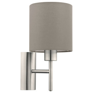 Eglo Pasteri Wall Light, Satin Nickel