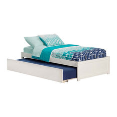 Atlantic Furniture Concord Urban Twin Trundle Platform Bed in White