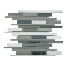 "12""x12.25"" Urban Mix Tiles, Set of 11, Platinum"