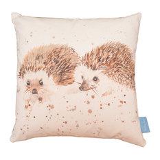 Mr and Mrs Hedgehog Handmade Cushion