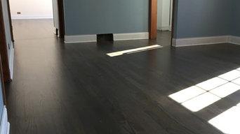 Dark Gray Wood Floors for Steven Brown in Mt. Prospect, IL.