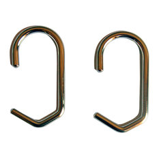 "Shower Curtain Rings Set of 12, Polished Nickel, 1"" Dia"
