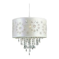 1 Light Pendant, Antique White