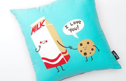 Threadless Cookies Love Milk Decorative Pillow