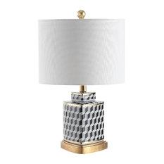 Studio Seven Alisha Table Lamp, Black/White
