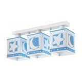 3-bulb ceiling light Stars light blue