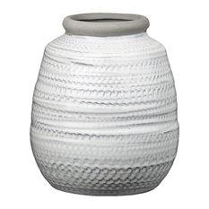 Urban Trends Ceramic Pot, Gloss Matte Glazed Finish, Multi Colored, Large
