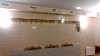 Система вентиляции в частном бассейне