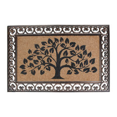 First Impression Hand Finished Rubber and Coir Tree of Life Classic Paisley Bord