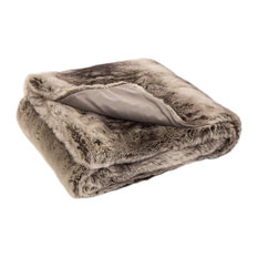 Ombre Grey Faux Fur Throw/Blanket