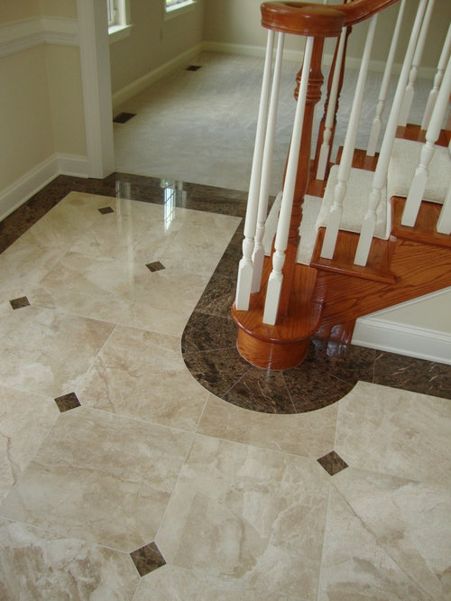 how to paint floor tiles in a kitchen marble foyer houzz 9807